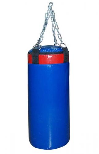 Мешок боксерский Русский бокс 03 на цепях L-80см d-25см 23кг цв.синий