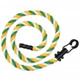 Канат для лазания х/б 1,8м D29мм цв.зеленый-желтый-белый