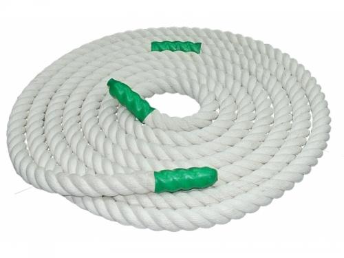 Канат для перетягивания х/б 1м D40мм цв.белый