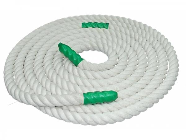 Канат для перетягивания х/б 3,5м D30мм цв. белый