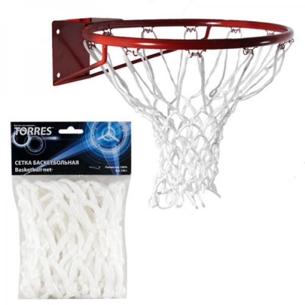 Сетка баскетбольная Torres цв.белый