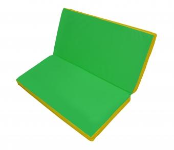 Мат гимнастический 1,15х1,15х0,08м складной цв.желтый-зеленый(к ДСК Мурзилка и Кубик)