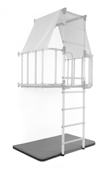 Мат гимнастический 1,05х0,75х0,08м закругленные углы цв.серый (для ДСК Индиго)-