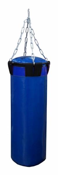 Мешок боксерский Русский бокс 02 на цепях L-110см d-30см 42кг цв.синий