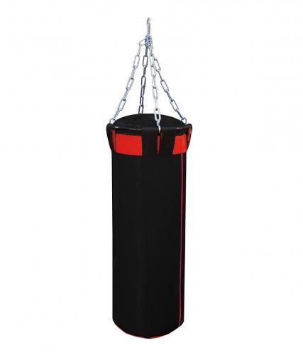 Мешок боксерский Русский бокс 02 на цепях L-120см d-30см 44кг цв.черный-красный