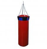 Мешок боксерский Русский бокс 02 на цепях L-70см d-25см 19кг цв.красный