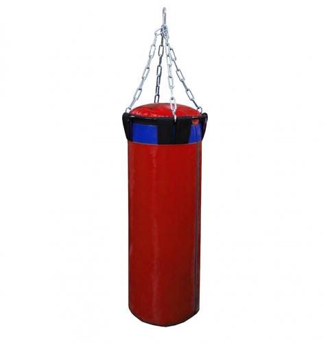 Мешок боксерский Русский бокс 02 на цепях L-80см d-30см 32кг цв.красный