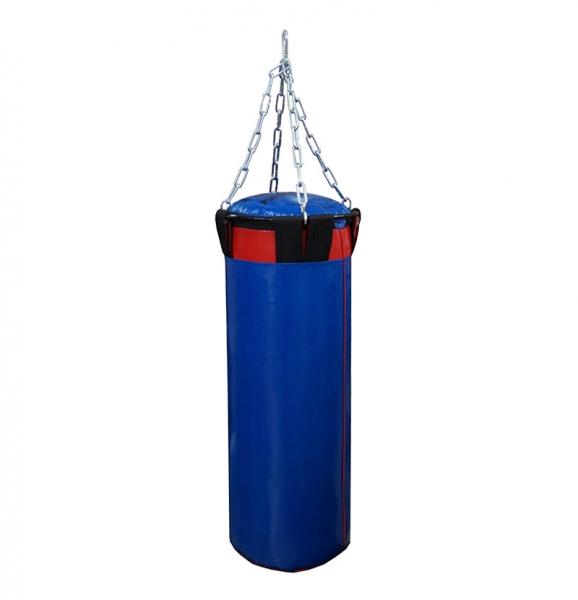 Мешок боксерский Русский бокс 02 на цепях L-80см d-30см 32кг цв.синий
