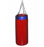 Мешок боксерский Русский бокс 03 на цепях L-70см d-25см 19кг цв.красный