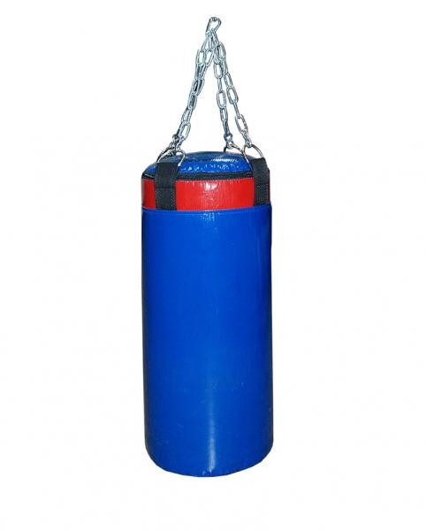 Мешок боксерский Русский бокс 03 на цепях L-90см d-30см 36кг цв.синий