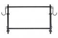 Полка универсальная складная 940(1060)*590*590 System X цв. черный