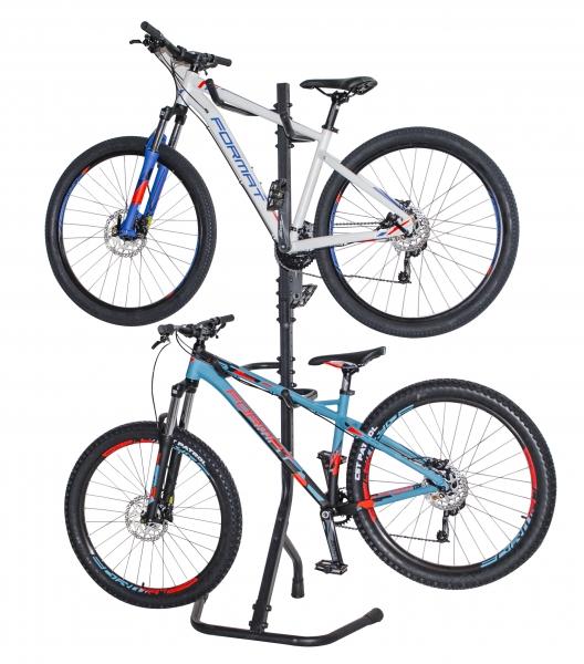 Стойка напольно-пристенная для двух велосипедов цв. черный System X