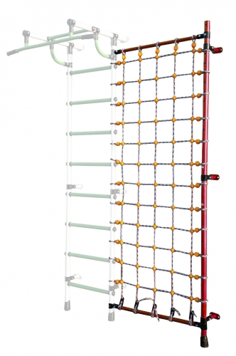 Дополнительная стойка к пристенному ДСК с сеткой для лазания