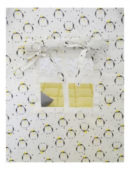 Вигвам Пингвины (1250*1250*1450мм) цв. белый-желтый СТАНДАРТ