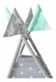 Вигвам Звезды малые цв. серый (1250*1250*1450мм) ЛАЙТ