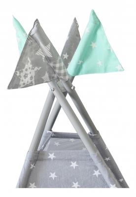 Вигвам Звезды малые цв. серый (1250*1250*1450мм) СТАНДАРТ