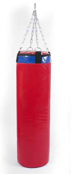 Мешок боксерский Русский бокс 03 на цепях L-80см d-25см 23кг цв.красный
